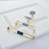 Armário de mármore nórdico azul puxa maçanetas de gaveta e puxadores de porta de guarda-roupa