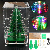 Geekcreit® Christmas Tree RGB Colorido LED Kit de flash com capa transparente DIY Electronic Kit