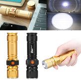 T6 USB Recargable LED Linterna 10X Zoom telescópico Power Work Spot Light Lámpara