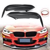 Carbon Fiber Racing Front Splitters Lip Fit Автомобильный спойлер Крыло Бампер Протектор Для BMW 3 серии F30 M Sport Sedan 2013-2017
