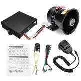 12V 400W 9 sonido 150dB Loud Coche Alarma de advertencia Policía Fuego sirena Cuerno sistema de altavoces