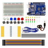 Starter Kit UNO R3 Breadboard Jumper para Arduino Micro controlador ATMEGA328P