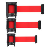 2/3/5m Retractable Stanchion Belt Crowd Queue Control Barrier Mounted Accessory Red