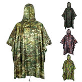 Motorcycle Hunting Waterproof Outdoor Wearable Camouflage Raincoat Cover Camping