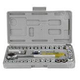 40Pcs Car Repair Tool Set Wrench Combo Spanner Tools Kit Chrome Vanadium Steel