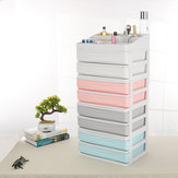 Double-deck Desktop Comestics Makeup Storage Drawer Box Saving Space Desktop Organizer