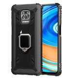 Bakeey for Xiaomi Redmi Note 9S / Redmi Note 9 Pro / Redmi Note 9 Pro Max Case Carbon Fiber Pattern Armor Shockproof Anti-fingerprint with 360° Rotation Magnetic Ring Bracket PC Protective Case