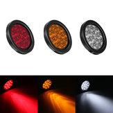 13,5 cm 4 Watt LED Runde Rückleuchten Drehen Stopp Brems Seitenleuchte für Lkw Anhänger ATV Rot / Bernstein / Weiß