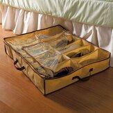 12 pares de armazenamento de sapatos Caixa sob cestos de armazenamento de armário de cama