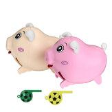 子供のおもちゃ動物音誘導口笛を吹く豚電子豚インタラクティブウォーキング電子玩具