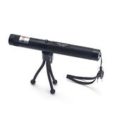 Double Light Laser Pointer Pen PPT Laser Page Pen Groen/Rood Licht Pas de batterijlading aan met beugel