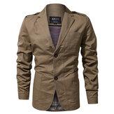 Epaulet Military Spring Autumn Cotton Casual Blazer Jackets