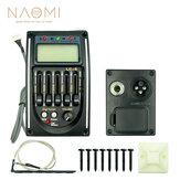 NAOMI 5 bandas captador de guitarra acústica LC-5 EQ preamp LCD Tuner Piezo captador guitarra captador cromático baixo