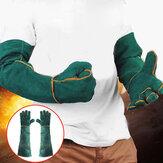 60см коровьей электросварки Перчатки кожа передач варежки долго тепло защитить теплый