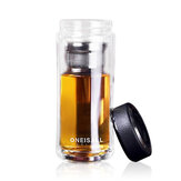 Large Capacity Glass Water Bottle Double Walled Travel Mug Portable Convenient Cup with Tea Infuser
