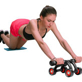 4 Wheels Abdominal Wheel Roller Anti-Rollover Abs Roller Home Sport Fitness Equipment Exercise Tools