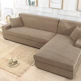 Sofá elástico de color caqui Funda elástica antideslizante sólido Soft Funda antideslizante Sofá lavable Protector de muebles para sala de estar