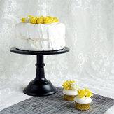 Titulaire de Dessert Porte-Dessous Sur Pied En Fer De Gâteau De Fer De 10 Pouces Décor de Noce