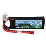 GENSACE ADVENTURE 11.1V 2200mAh 50C 3S T Plug Lipo Battery for RC Car