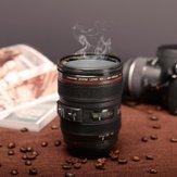 400MLKahveÇayKupaSLR Kamera Lens 24-105mm Gıda Sınıfı PC 1: 1 Tartı Yaratıcı Bardaklar