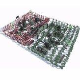 270 Stücke Militär Soldaten Spielzeug Satz Armee Männer Figuren & Zubehör Modell Für Sandkasten