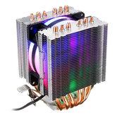 3 دبوس معالج تبريد مروحة التبريد المبرد ل انتل 775/1150/1151/1155/1156/1366 و AMD جميع المنصات 5 ألوان الإضاءة
