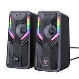 ONIKUMA G6 Bilgisayar Hoparlörü 5W*2 2.0 Kanallı Multimedya Hoparlörü HIFI Ses 360° Surround Ses RGB Işık