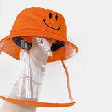 Çocuk Balıkçı Şapka Çıkarılabilir Yüz Ekranı Rüzgar Geçirmez Şeffaf Toz Kapağı