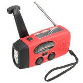 Emergenza solare Manovella Manovella Wind Up 3 LED Torcia Torcia AM FM Radio Caricatore