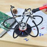 NEWACALOX saldatura Supporto per ferro saldatura Stazione USB 6Pz Strumento per saldatura a terza mano con bracci flessibili