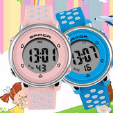 SANDA 2008 Colorful Watch Fashion Luminous Display Shockproof 12/24-hour Cute Kids Digital Watch