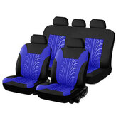 9PCS Car Seat Cover Set Universal 5-Seat Protector Fabric Special Craft Wish Tire Pattern