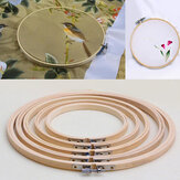 Practical 13-26cm Cross Stitch Machine Bamboo Frame Embroidery Hoop Ring Round Hand DIY Needlecraft Sewing Tool