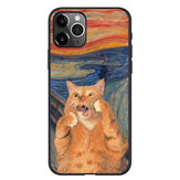 Creative Retro Oil Painting Cat Pattern Protective Case Back Cover for iPhone 11 / 11 Pro / 11 Pro Max / SE / X / XS / XR / XS Max / 6S / 6S Plus / 7 / 8 / 7 Plus / 8 Plus