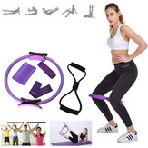 5 Pcs Mix Resistance Bands Pilates Ring Elastic Band Fitness Yoga Exercise Tools
