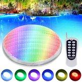 36W RGB LED التحكم عن بعد مراقبة Underwater Swimming Pool ضوء ضد للماء IP68 Embedded AC / DC12V