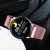 Newwear Q20 Tela Edge to Edge Coração Monitor de Taxa Ciclo Fisiológico Rejeição de Chamadas 30 Dias em Espera Relógio Inteligente