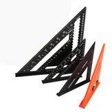 Regla de guía de transportador de ángulo cuadrado triangular de velocidad de aleación de aluminio métrica de 7/12 ''