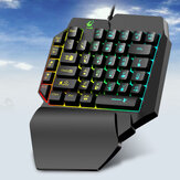 Freewolf 39-key Mechanical Feel One-handed Waterproof Backlit Mobile Game Keyboard