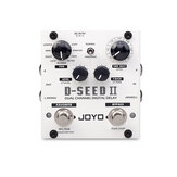 JOYO D-SEED II Stereo PingPong Effect Guitar Pedal Delay Looper Function Tape Recording Simulation Copy Analog Reverse Effects