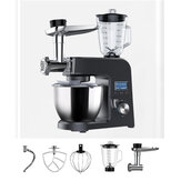 BlitzWolf® BW-VB1 Stand Mixer ,1500W 8 Speed Tilt-Head Kitchen Food Mixer with 5.5L Stainless Steel Bowl,Dough Hook,Meat Grinder,Whisk,Juice Stirring,Egg-beater