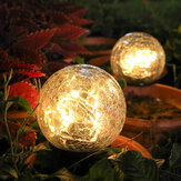 Crackle Ball-shaped LED Solar Lights Lawn Light Christmas Outdoor Ground Lamp Garden Decorations Lights