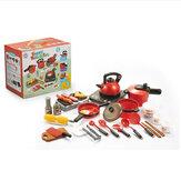 Четыре вида кухонной посуды из искусственного пластика со звуковыми и световыми игрушками для барбекю для детей