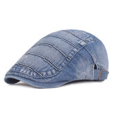 Mannen Summer Denim Beret Caps Forward Caps