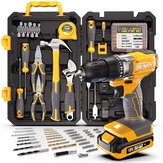 Hi-Spec 80 Piece 18V Drill Driver & Home Garage Tool Kit Set Complete DIY Repair with Electric Power Screwdriver & Drill for The Household Office & Workshop
