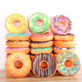 Donut Pluche knuffel Soft Doughnut Eten Terug Saddle Car Set Kids Gift Decor