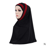 Women Girls Mask Hijab Lace Scarf Islamic Amira Headwear Shawls Headwraps
