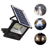 Lampe de camping solaire à LED 5000mAh Lampe d'inondation de rue Projecteur de jardin étanche avec terrasse extérieure télécommandée