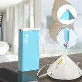 Zusammenklappbar LED UV Sterilisationslampenbox USB-Aufladung Tragbare 3-Minuten-Maske UV-Sterilisatorleuchte für Zahnbürstenbecher Handtuchrasierer