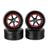 4PCS Front Rear Wheel Rim Tires for 23211 KY-1881 1/20 RC Car Vehicles Model Parts
